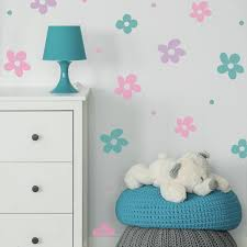 Retro Daisies Wall Decals Labeldaddy