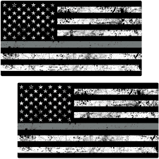 12 2 Thin Silver Line Decal Police Officer Corrections Officer Sticker Law