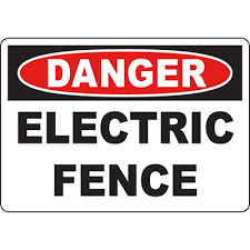 Danger Electric Fence Sign Graphic Products