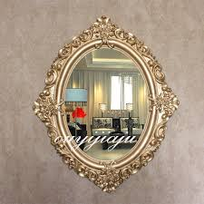 antique oval wall mirror with frame