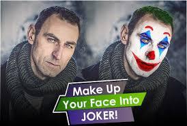 photo into joker face makeup