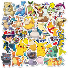Amazon Com Cute Pokemon Anime Stickers 50pcs The Original Comic Cartoon Animals Monsters Aesthetic Trendy Vinyl Waterproof Decals For Laptop Water Bottle Skateboard Diary Cups Tumbler Car Guitar Bumper Kitchen Dining