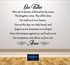 Our Father Lord S Prayer Wall Vinyl Decal Sticker Removable 22x25 Color Choices Ebay