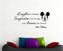 Walt Disney Quote Wall Decal Mickey Mouse Vinyl Sticker Art Kids Room Decor 21qz Ebay
