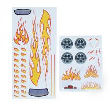 Toys Hobbies Wooden Pinewood Derby Car Blue Flames Decal Aqesa Com