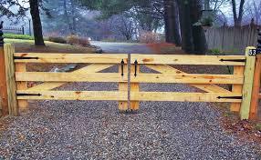 Wood Driveway Gate Campanella Fence