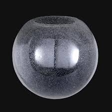 clear seeded glass neckless ball shades