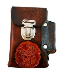 hand crafted leather cigarette case