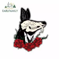 Earlfamily 13cm X 10 4cm For Wolf Head And Roses Car Decal Fashion For Suv Anime Motorcycle Car Bumper Window Stickers Car Stickers Aliexpress