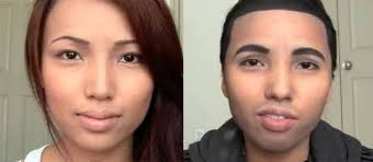 transforms into drake with makeup