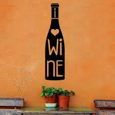Shop I Heart Wine Wine Bottle Vinyl Wall Quote Decal On Sale Overstock 14683227
