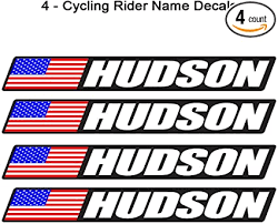 Amazon Com 4 Piece Custom Bicycle Frame Name Usa Decal Sticker Set Road Bike Cycling Mountain Bike Black Background Sports Outdoors