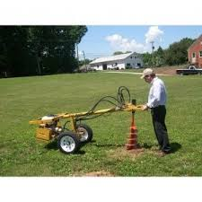 Mackissic Easy Auger Ii One Man Hydraulic Earth Drill Drill Augers Shed Floor Plans