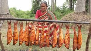 Fish Fry in Village Style My Grandma ...