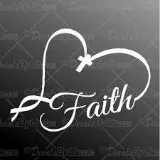 Faith Heart Decal Faith Heart Car Sticker Fast Shipping