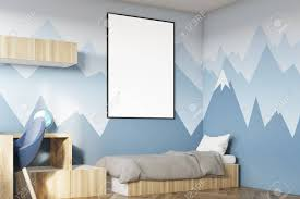 Side View Of A Kids Room Interior With A Poster Hanging Above Stock Photo Picture And Royalty Free Image Image 80922918
