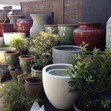 large ceramic outdoor plants pots for