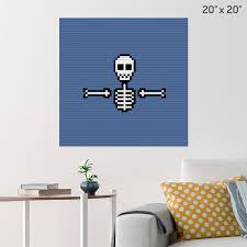 Skeleton Pixel Art Brik