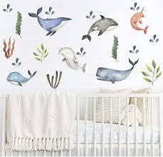 Amazon Com Sea Animals Decals Baby Wall Decals Modern Decor Baby Room Baby Nursery Art Wall Decal Kids Modern Nursery Wall Decal Children Cling Decor Handmade