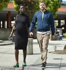 Joshua Jackson and heavily pregnant Jodie Turner-Smith hold hands ...