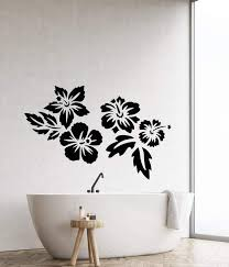 Vinyl Wall Decal Beautiful Exotic Flowers Bud Tropical Beach Style Sti Wallstickers4you
