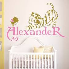 Amazon Com Wall Decals Baby Cat Bird Vinyl Sticker Custom Personalized Name Monogram Sticker Baby Girl Boy Bedroom Nursery Murals Home Decor Kids Animal Kitten Wall Room Stickers M4 Kitchen Dining
