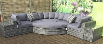 grey rattan garden furniture grey