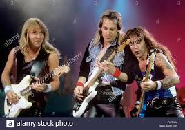 v.l. Dave Murray, Adrian Smith, Steve Harris (Iron Maiden) on ...