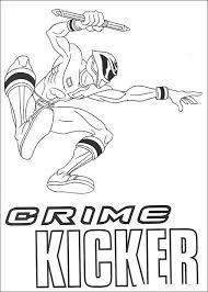 Kids N Fun Kleurplaat Power Rangers Crime Kicker