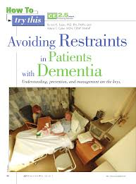 restraints in patients with dementia