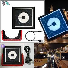 Uber Lyft Led Light Sign Logo Sticker Decal Glow Wireless Decal Accessories Removable Uber Lyft Glowing