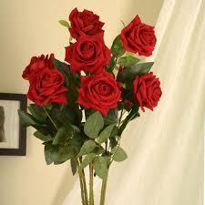 2020 romantic lifelike artificial rose