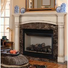 wood arched fireplace mantel surround