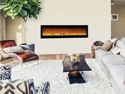 recessed electric fireplace 80015