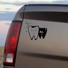 Yjzt 18x15cm Cartoon Fun Tooth Teeth Vinyl Decal Car Sticker Black Silver Accessories S8 1409 Car Sticker Stickers Blackcar Decal Sticker Aliexpress