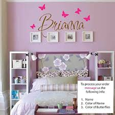 Amazon Com Newsee Decals Brianna Wall Decal Girls Room Childrens Wall Decal Wall Art Custom Name Vinyl Stickers Home Kitchen