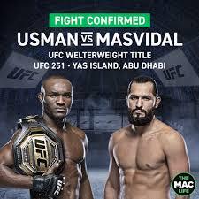 UFC 251: Usman vs. Masvidal LIVE Full ...