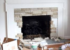 airstone fireplace makeover on a diy