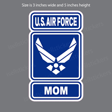 Air Force Mom Wings Logo Military Bumper Sticker Window Decal