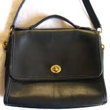 vintage coach u s a black leather