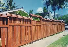 Mdesign Hawaii Custom Woodworks Lanikai Redwood Fence