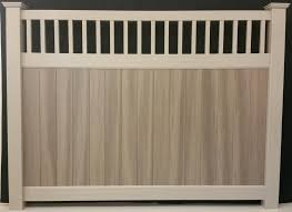 Homewood Wood Grain Fence Al Mar Vinyl Aluminum Exeter Ontario