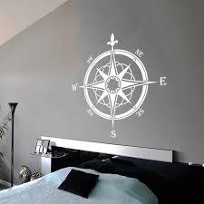 Compass Rose Wall Decor Navigate Style Wall Decal Bathroom Ocean Decoration Nautical Compass Wall Sticker Vinyl Wall Art Ay1443 Wall Stickers Aliexpress