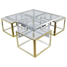 large glasetal coffee table