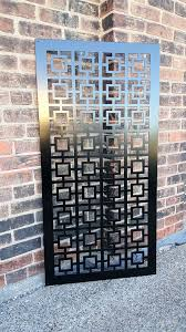 Square1 Metal Privacy Screen Decorative Panel Garden Fence Etsy Metal Doors Design Window Grill Design Steel Door Design