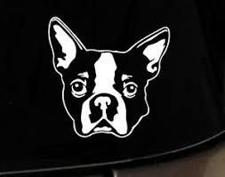 Boston Terrier Ipad Vinyl Car Window Decals Sticker Love My White Rescue Dog Mom Ebay