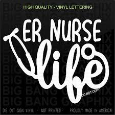 Registered Er Nurse Vinyl Decal Sticker Lettering Vehicle Car Window Die Cut Ebay