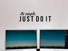 Just Do It Nike Inspirational Wall Decal Quote By Myvinylstory 17 97 Nike Wall Decal Quotes Inspirational Inspirational Wall Decals Motivational Wall Quotes