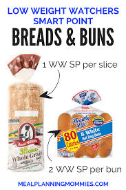 low myww smartpoint bread and buns