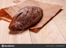 homemade bread paper bag baked